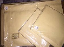 NIP NWT set of 4 POTTERY BARN LINEN hemstitch PLACEMATS yellow beige straw