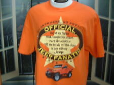 JEEP T-SHIRT~OFFICIAL JEEP FANATIC(Since 1941)XL.NEW By:JEEP     LQQK