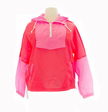 TopShop Women's Fluorescent Pink/Orange Windbreaker Jacket 11XO1A Size 12 NWT