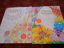 Adult Colouring Book X2 Art Therapy Book/ TORN COVERS HENCE PRICE