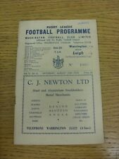 30/08/1958 Rugby League Programme: Warrington v Leigh [Lancashire Cup] (Creased,
