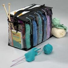 Knitting Tote Bag 6 Skein Yarn Holder Crocheting Supply Organizer No Tangle Free