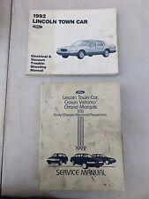 1992 Ford Lincoln Crown Victoria Grand Marquis Town Car Service Repair Manual