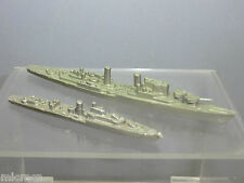 VINTAGE WATERLINE SHIPS MODEL No 2 X BRITISH WARSHIPS (ex TRI-ANG MINIC MOULDS )