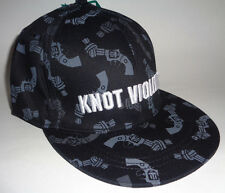 "MENS DIVIDED BY H&M ""KNOT VIOLENCE"" HAT BLACK CAP SIZE M"
