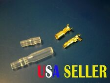 3.9 - 4mm Quality Bullet Connectors 25 Sets - Male and Female with Sleeves