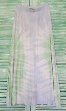 NWT Tryst Women's Cotton Maxi Skirt Light Blue/Light Green Tie-Dye  S