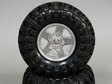 RC 1/10 Scale JEEP Truck Rims Wheel 2.2 ROCK CRAWLER BEADLOCK Wheels + Tires