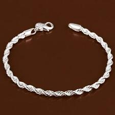 925 Silver Classic Knot Bracelet Bangle Fashion Women Lady Jewelry New Gift