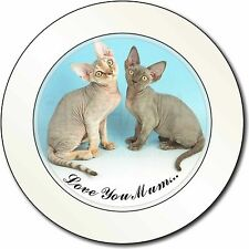 Devon Rex Cats 'Love You Mum' Car/Van Permit Holder/Tax Disc Gift, AC-20lymT