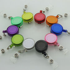 5pcs Retractable Reel Recoil ID Badge Lanyard Name Tag Key Card Holder Belt Clip