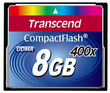 8GB Compact Flash CF Memory Card for Canon EOS 400D 5D 1D -Transcend Prem 400x