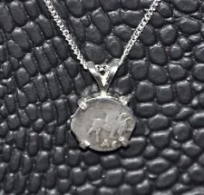 Russian Tsar Ivan The Terrible Authentic Kopek Coin 925 Sterling Silver Necklace
