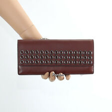 NWT Coach Bleecker Grommet Soft Leather Wallet 51967 NEW Brick Brown $158