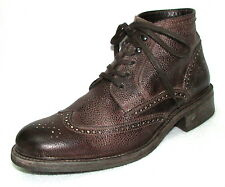 N.D.C. NDC COUNTRY CHUKKA Brown Distressed Look Wing Tip Ankle Boots 45 12
