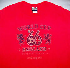 WORLD CUP SOCCER FOOTBALL / LONDON ENGLAND WEMBLEY '66 / VINTAGE RED T-SHIRT L