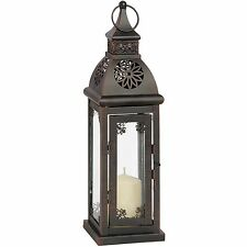 Traditional metal souk tea light & candle Moroccan floor lantern home or garden