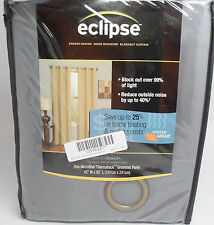 "Eclipse Microfiber Grommet Blackout Window Curtain Panel, 42x95"" Smoke  {AT6 XA"