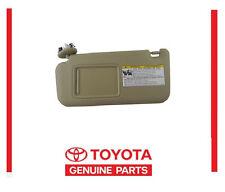 GENUINE TOYOTA RAV4 SUN VISOR TAN DRIVER LEFT  74320-42501-A1 NEW  2006-2009