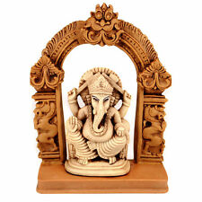 GANESHA SHRINE STATUE Seated Ganesh Hindu Elephant God NEW Resin Figurine India