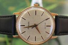 GREAT MEN'S VINTAGE GOLD-PLATED MECHANICAL USSR RAKETA WATCH 21 JEWELS
