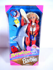 NIB BARBIE DOLL 1994 BAYWATCH LIFEGUARD RESCUE DOLPHIN FRIEND WE BUYS DOLLS!!