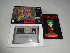 Sim City SNES Spiel komplett mit OVP und Anleitung
