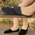Men Boy Casual 100% Cotton Loafer Boat Non-Slip Invisible Low Cut No Show Socks
