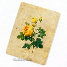 Yellow Rose Deco Magnet, Decorative Fridge Décor Garden Flower Mini Gift