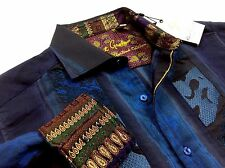 Robert Graham L.E. Men Embroidered Geometric Jacquard Sport Shirts SWAROVSKI SM