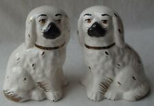 "PAIR OF ENGLISH SPANIEL STAFFORDSHIRE MANTLE DOG FIGURINES  4"" T"