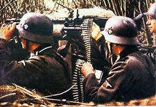 MG34 WWII COLOR photo, MG 34 MG42 German WW2