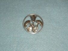 "Vintage GEOFFREY G. BELLAMY For IVAN TARRATT ""Flowers & Fern"" SILVER BROOCH 1963"