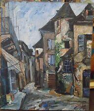 Charles FÉOLA (1917-1994) Huile sur toile Vieille maison