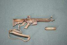 "BBI 1/6 Tan M4 Assault Rifle Gun Weapon w/ Sling Silencer for 12"" Figures W-34"