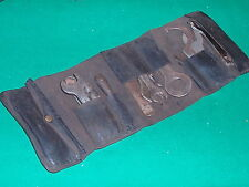 VINTAGE PRE-WAR BSA MOTORCYCLE TOOLKIT IN ORIGINAL LEATHER TOOLROLL