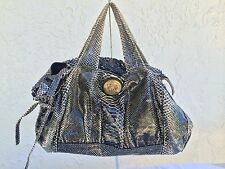 GUCCI Hysteria Black Python Snakeskin Bag Purse Handbag with many Flaws Auth