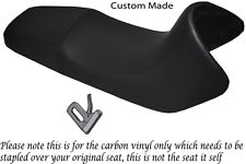 CARBON FIBRE VINYL CUSTOM FITS BMW F 650 FUNDURO 93-00 REAL DUAL SEAT COVER