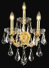 New Crystal Wall Sconce Maria Theresa Gold 12X22X8.5
