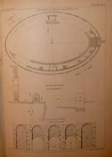 Storia Archeologia, G. Ghirardini: Scavi Anfiteatro Padova 1881 con una tavola