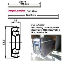HEAVY DUTY 1200mm ball bearing fridge drawer slide runner great for 4WD 115 KG