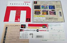Namco Museum Vol. 3 Original Release PS1 PSOne PlayStation Japan JPN * MINT