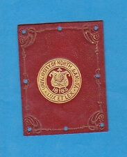 c1910s tobacco leather  college leather  UNIVERSITY OF NORTH DAKOTA #1