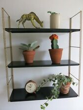 Vintage Black 20th Century Tomado Style String Shelving Unit MCM