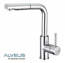 ALVEUS SIROS CHROME KITCHEN SINK MODERN TAP SINGLE LEVER PULL OUT SPRAY