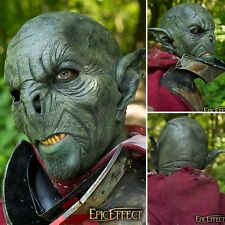 Latex Green Feral Orc Mask - Perfect For LARP Or Costume Use