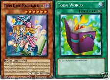 Toon Dark Magician Girl 2-card set : + Toon World GLD4 set Set YUGIOH