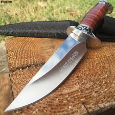 Rosewood Hunting Camping Fishing Survival Knife New w/Sheath Military 9116