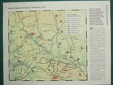 WW2 WWII MAP ~ BATTLE OF KHARKOV 29 JAN - 20 FEB 1943 SOVIET FRONT LINE ATTACKS