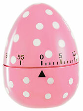Eddingtons Pink Spotted Dotty Egg Shape 60 Minute Timer